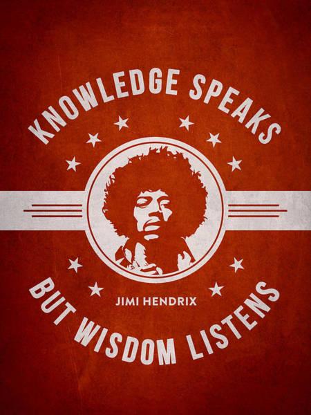 Jimi Hendrix Photograph - Jimi Hendrix - Red by Aged Pixel