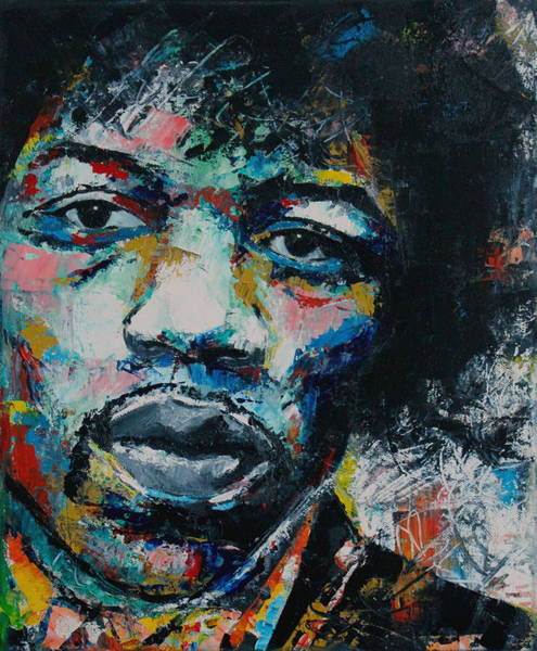 Abstract Expressionism Wall Art - Painting - Jimi Hendrix by Richard Day