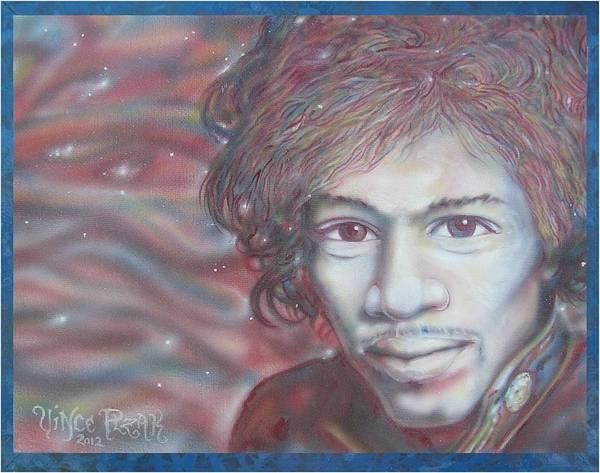 Progressive Rock Painting - Jimi Hendrix by Vince Plzak