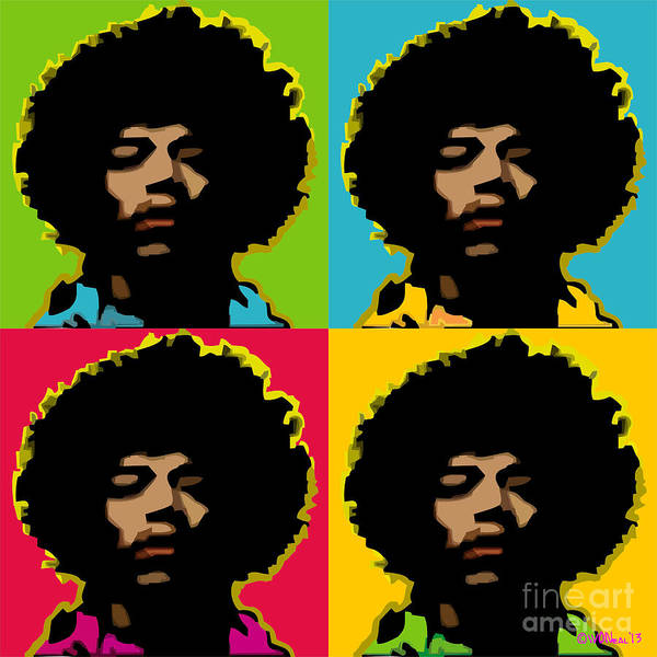 Jimi Hendrix 4-up Art Print