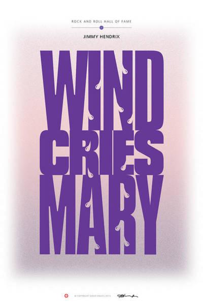 Digital Art - Jimi Hendrix - Wind Cries Mary by David Davies