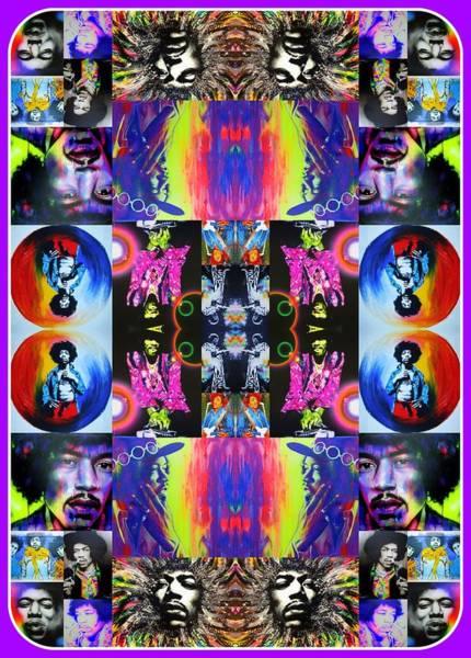 Peace And Love Painting - Jimi Kaleidoscope I by Christian Chapman Art
