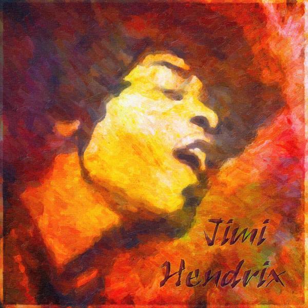 Digital Art - Jimi by Rick Wicker