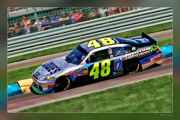 Jimmie Johnson Art Print