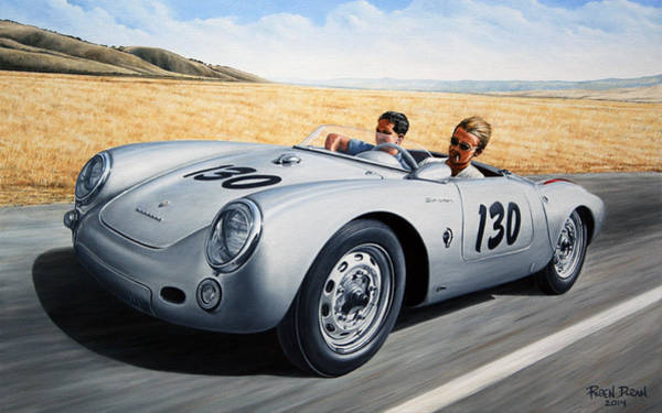 California Landscape Painting - Jimmy And Rolf by Ruben Duran