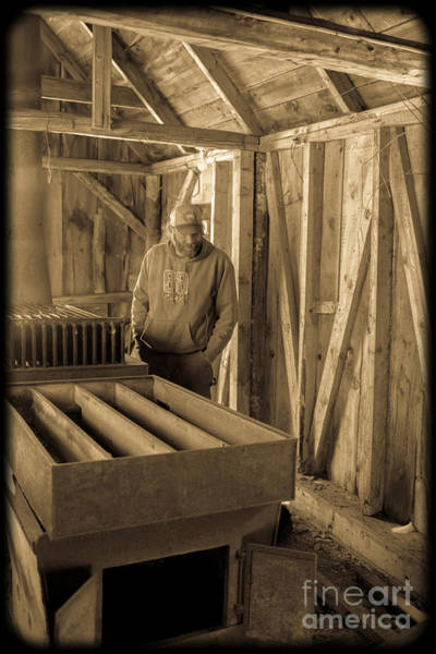 Photograph - Jimmy In The Old Mt. Cube Sugar House by Edward Fielding