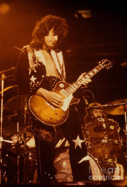 Jimmy Page Photograph - Jimmy Page 1975 by David Plastik