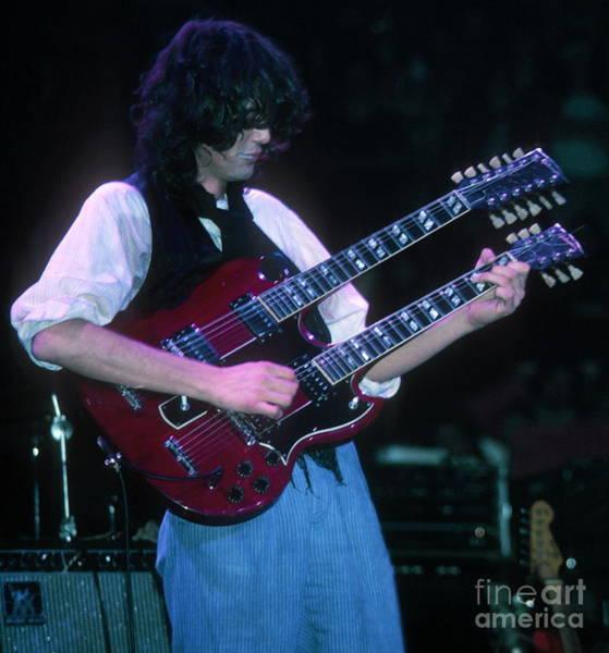 Jimmy Page Photograph - Jimmy Page 1983 by David Plastik