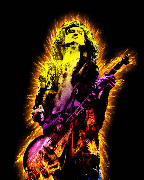 Rock And Roll Jimmy Page Wall Art - Painting - Jimmy Page by Michael Lee