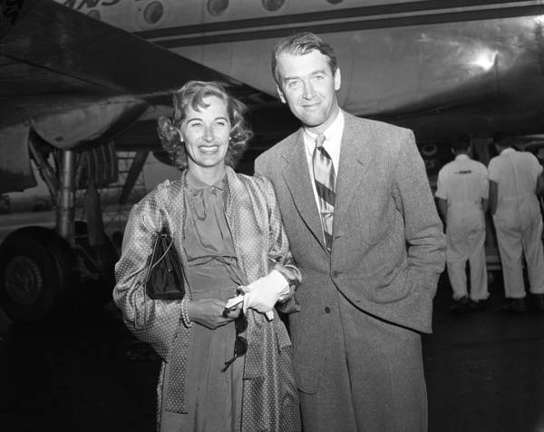 Gloria Photograph - Jimmy Stewart And Wife by Retro Images Archive
