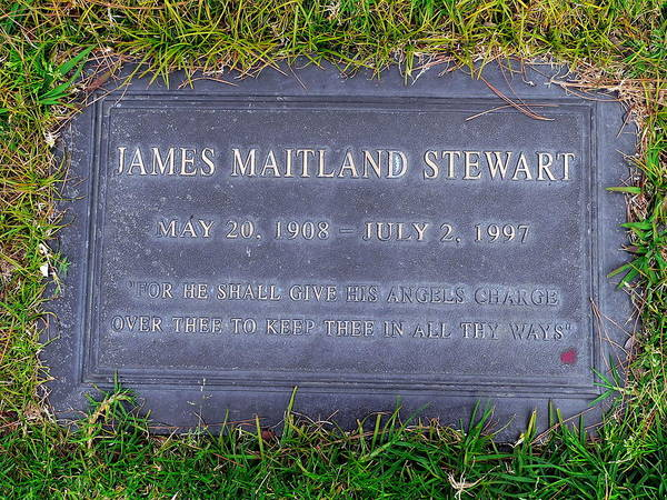 Photograph - Jimmy Stewart Grave by Jeff Lowe