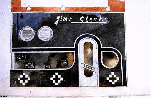 Painting - Jim's Steaks by William Renzulli