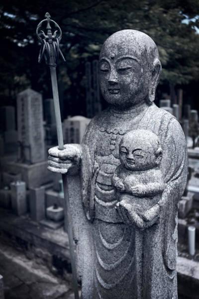 Wall Art - Photograph - Jizo Bodhisattva Deity Of Kyoto  by Daniel Hagerman
