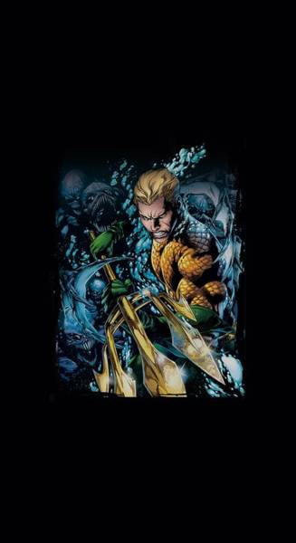 Justice League Digital Art - Jla - Aquaman #1 by Brand A