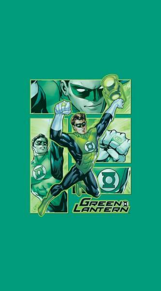 Justice League Digital Art - Jla - Green Lantern Panels by Brand A