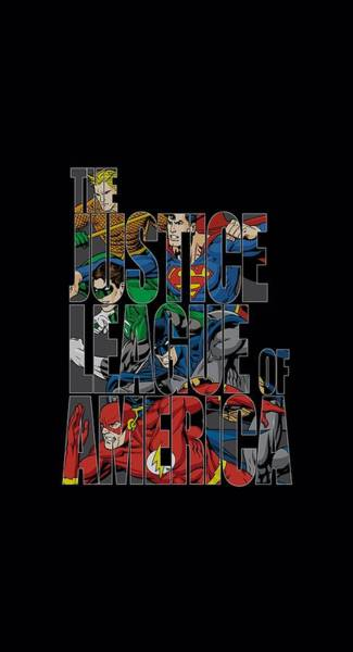 Justice League Digital Art - Jla - Lettered League by Brand A