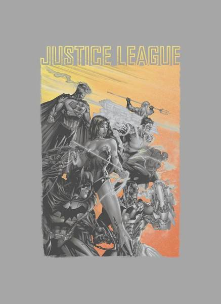 Justice League Digital Art - Jla - Red Dawn by Brand A