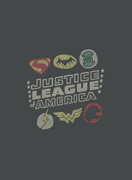 Justice League Digital Art - Jla - Symbols by Brand A