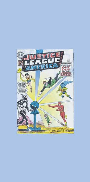 Justice League Digital Art - Jla - Vintage Cover 12 by Brand A