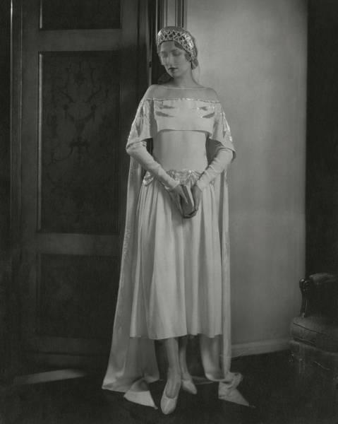 Lanvin Photograph - Joan Clement Wearing A Lanvin Wedding Dress by Edward Steichen