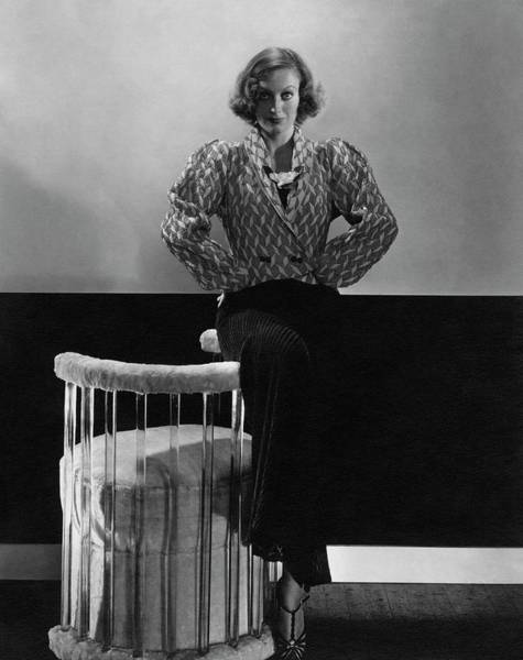 Copy Photograph - Joan Crawford Wearing A Schiaparelli Dress by Edward Steichen