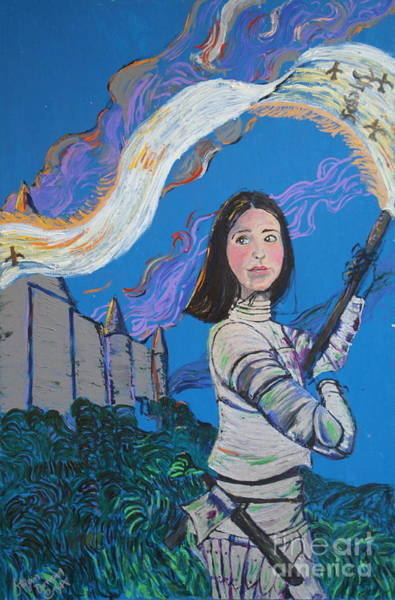 Painting - Joan Of Arc - Follow Me by Stefan Duncan