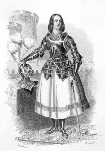 Wall Art - Drawing - Joan Of Arc  French Heroine Dressed by Mary Evans Picture Library