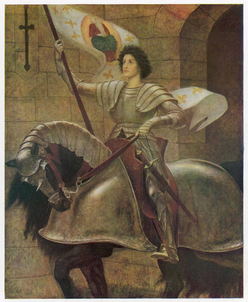 Wall Art - Drawing - Joan Of Arc  French Heroine, Mounted by Mary Evans Picture Library