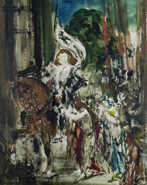 Arc Wall Art - Painting - Joan Of Arc by Gustave Moreau