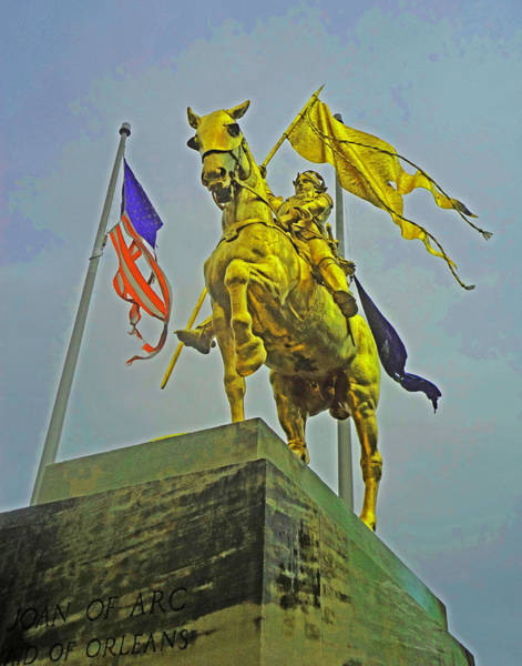 Photograph - Joan Of Arc In New Orleans by Louis Maistros