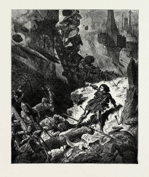 Wall Art - Drawing - Joan Of Arc Jean Darc At The Siege Of Paris by French School
