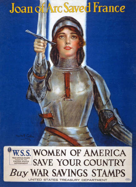 Propaganda Drawing - Joan Of Arc Saved France by William Haskell Coffin