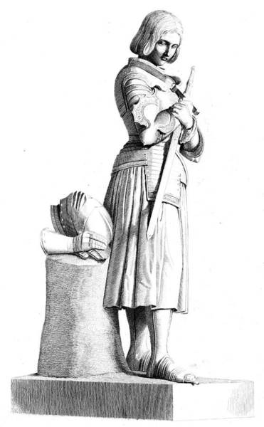 Wall Art - Drawing - Joan Of Arc  Statue Of The  French by Mary Evans Picture Library