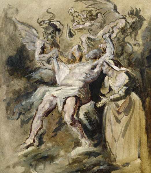 Satan Painting - Job Tormented By The Demons by Ferdinand Victor Eugene Delacroix