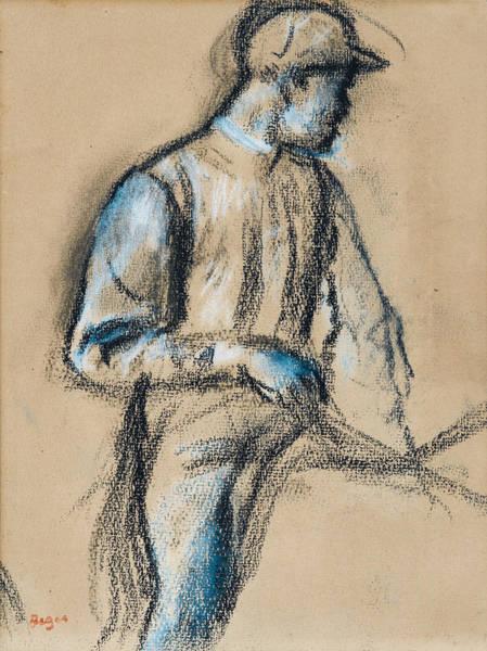 Impressionistic Drawing - Jockey by Edgar Degas