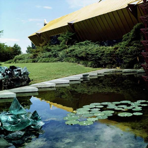 Front Yard Photograph - Joe And Etsuko Price's House by Horst P. Horst