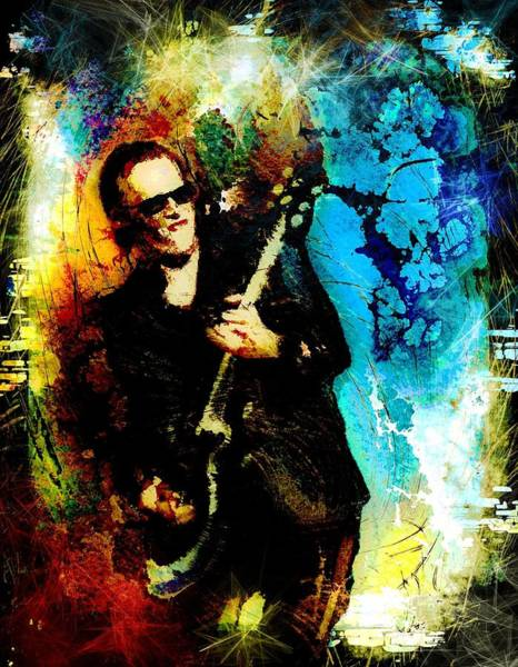 Painting - Joe Bonamassa Madness by Miki De Goodaboom