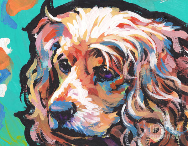 Cocker Spaniel Painting - Joe Cocker by Lea S