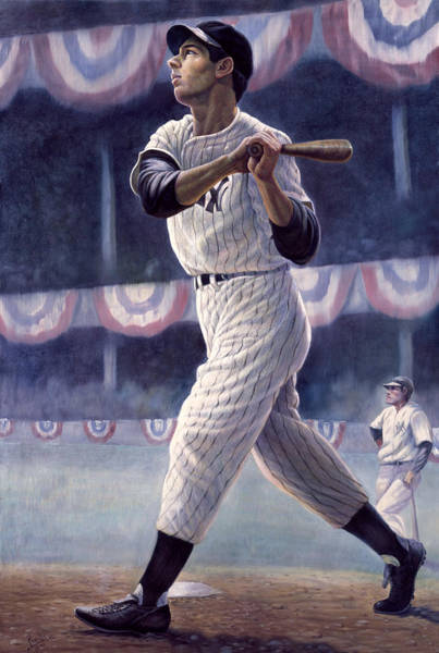 Bomber Painting - Joe Dimaggio by Gregory Perillo