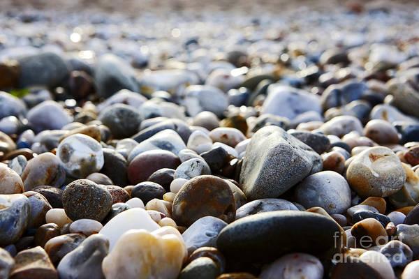 Stoney Photograph - Joe Fox Fine Art - Smooth Stones On A Shingle Beach by Joe Fox