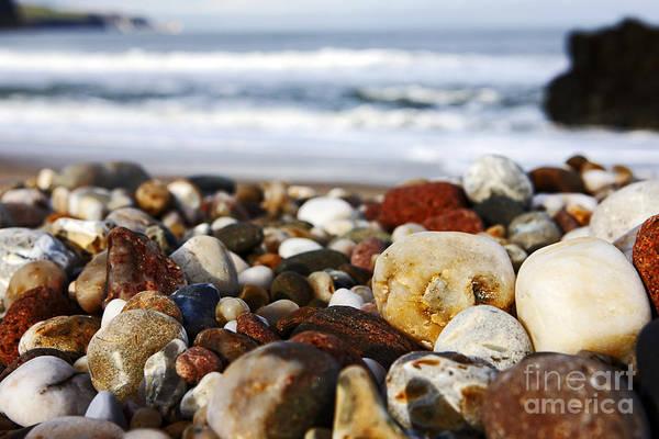 Stoney Photograph - Joe Fox Fine Art - Stones And Rocks Worn Smooth By Wave Action On A Shingle Beach by Joe Fox