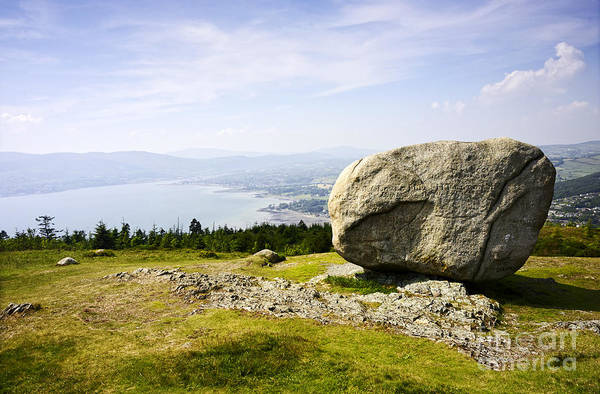Glacial Erratic Photograph - Joe Fox Fine Art - The Cloughmore Stone Rostrevor County Down Northern Ireland by Joe Fox