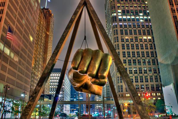 Michigan Photograph - Joe Louis Fist Detroit Mi by A And N Art