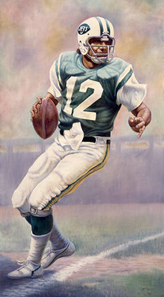 New York Jets Wall Art - Painting - Joe Namath by Gregory Perillo