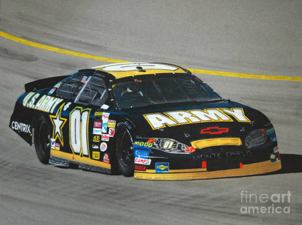 Chevrolet Drawing - Joe Nemechek Army Chevrolet by Paul Kuras