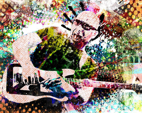 Progressive Rock Painting - Joe Satriani Original Art by Ryan Rock Artist