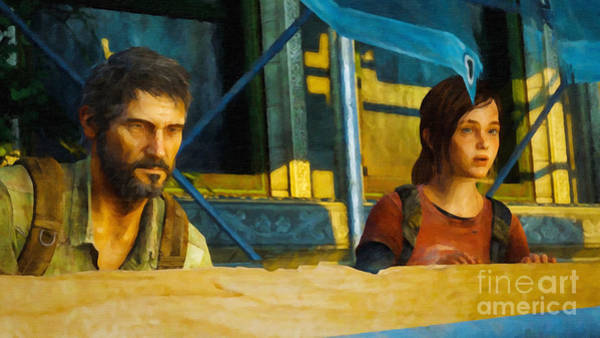 Videogame Painting - Joel And Ellie by Image World