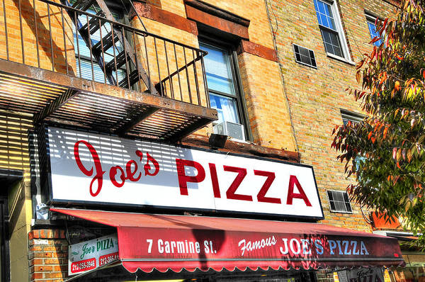 Wall Art - Photograph - Joe's Pizza In The West Village by Randy Aveille