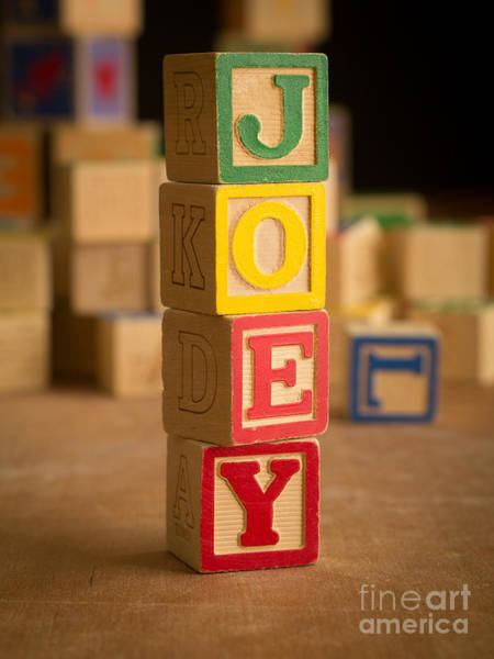Baby Name Wall Art - Photograph - Joey - Alphabet Blocks by Edward Fielding