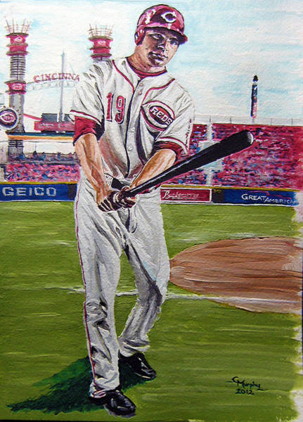 Hitter Painting - Joey Full Frame by Charles Murphy